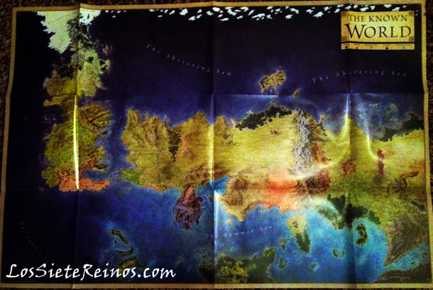 "El mapa completo de ""El Mundo Conocido"" según The Lands of Ice and Fire"