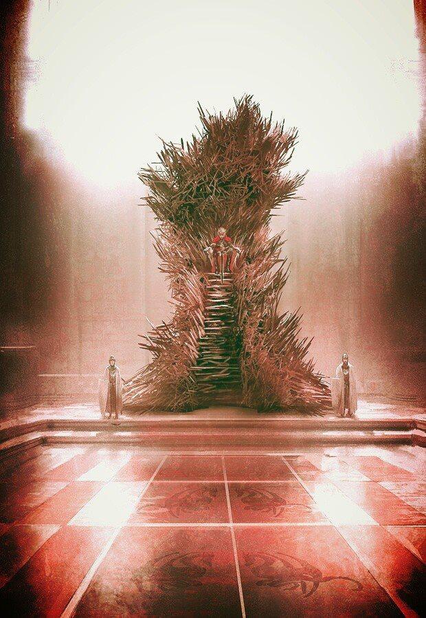 El aut ntico trono de hierro de george r r martin for Silla juego de tronos