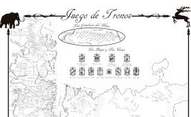 Mapa en espaol de JUEGO DE TRONOS